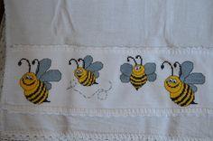 graficos ponto cruz abelhinhas - Pesquisa Google