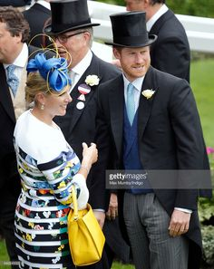 Prince Harry and Zara Phillips attend day 1 of Royal Ascot at Ascot Racecourse on June 14, 2016 in Ascot, England.