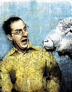 Buster and a sheep. Arrested Development