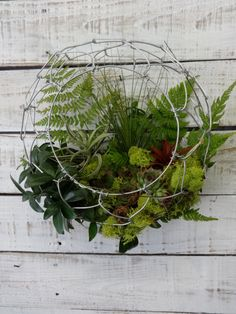 Four Seasons Handmade Wire Door Basket by CharestStudios on Etsy