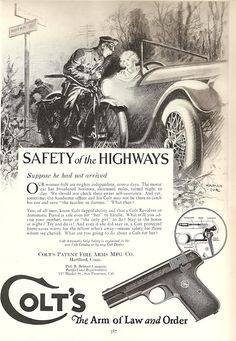 Gun manufacturers have been advertising guns to women since the Old Advertisements, Advertising Signs, Funny Vintage Ads, Cigars And Whiskey, Picture Search, Old Ads, The Good Old Days, Vintage Posters, Firearms