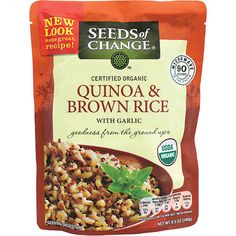 Quinoa and Whole Grain Brown Rice. Found this at Costco, 90 sec in the microwave-yummy and EASY!