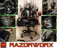 Wolf Predator complete Cosplay Armour, designed, printed, coloured, assembled and finished. Wolf Predator, Armour, 3d Printing, It Is Finished, Cosplay, Printed, Color, Design, Impression 3d