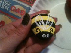 Little bumble bee painted rock I made