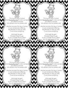 Free Kissing Hand poem printable. Love this Ppoem. Have