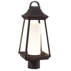 Shop Kichler Lighting Hartford 17.8-in H Rubbed Bronze LED Post Light at Lowes.com