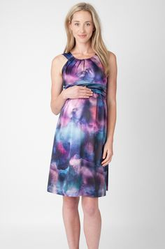 Stunning watercolour satin dress from Ripe.  Perfect any time of the year for that special occasion.http://maternitywearnewcastle.com.au/