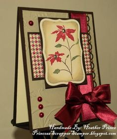 Heather Prince - Princess Scrapper Stamper: Pretty Poinsettia