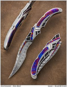 Photos SharpByCoop Gallery of Handmade Knives Page 53 Pretty Knives, Cool Knives, Swords And Daggers, Knives And Swords, Demascus Knives, Knife Aesthetic, 4 Elements, Armas Ninja, Ninja Weapons