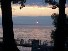 Sunrise on Oneida lake, New York