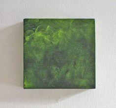 Mini Canvas Art SquareGreenCherubimArts by CherubimArts on Etsy