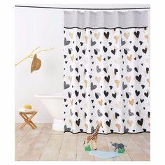 Target Pillowfort Heart Blackberry Forest Shower Curtain Black Gold New #TargetPillowfort