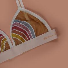 Afternoon Delight Rainbow Bra #lingerie #rainbows #bra #croptop #festival #bralette #fashion #crop #hippie #wanderlust #music #summer #bikini Afternoon Delight, Pretty Bras, Flylady, Bra Lingerie, Rainbows, Pj, Baddie, Unicorn, Wanderlust