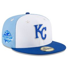 new concept 0bb69 42acd Men s Kansas City Royals New Era White Blue 2018 MLB All-Star Game On-Field  59FIFTY Fitted Hat