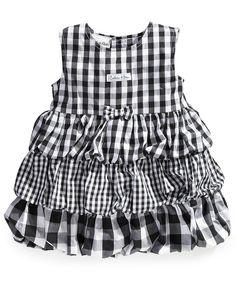 Calvin Klein Baby Dress, Baby Girls Woven Gingham Poplin Dress - Kids Shop All Baby - Macy's