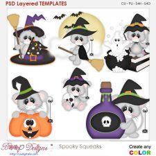 Spooky Squeeks Halloween Mice Element Templates cudigitals.com cu commercial scrap scrapbook digital graphics#digitalscrapbooking #photoshop #digiscrap