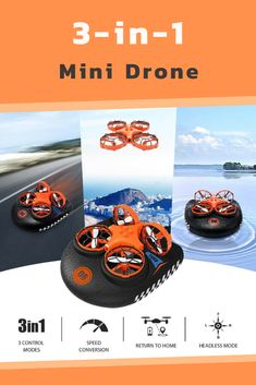 You're on the ground—a high-speed drive, you're flying fast in the air, you're on the water feeling the waves. 🤩 This is no dream. Introducing Mini Drone quadcopter for hours and hours of fun and entertainment! Unique Gadgets, High Speed, Waves, Entertainment, Feelings, Mini, Ocean Waves, Beach Waves, Entertaining