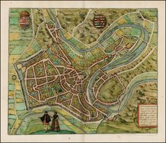 Luxembourg, old capital of the duchy of the same name 1580 - Barry Lawrence Ruderman Antique Maps Inc.