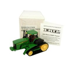 """John Deere Model 9420T Tractor Case Pack 16 by John Deere. $119.35. Please refer to the title for the exact description of the item. Allof theproductsshowcased throughoutare100%OriginalBrand Names. 100% SATISFACTION GUARANTEED. John Deere Model 9420T Tractor. Boxed. 1:64 scale die cast with rolling tread. Includes certificate of authenticity, made by ERTL. Measures 4""""""""""""""""L X 2 1/4""""""""""""""""H x 2 1/4""""""""""""""""W."""""""" Case Pack 16 Please note: If there is a color/size/type option, t..."""