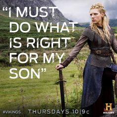 """'I must do what is right for my son' -- Lagertha, from """"Vikings"""" Ragnar Lothbrok Vikings, Lagertha Lothbrok, Vikings Tv Show, Vikings Tv Series, Vikings Hbo, Roi Ragnar, King Ragnar, Viking Berserker, Viking Life"""