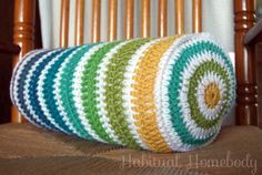 crochet bolster pillow by Habitual Homebody