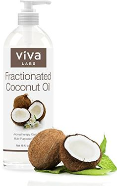 Viva Labs Fractionated Coconut Oil, 16 oz - Ultra Hydrating Massage & Aromatherapy Must-Have, Hexane-Free - Find The Latest Anti-Aging Products Coconut Oil For Face, Coconut Oil Uses, Organic Coconut Oil, Organic Oil, Aromatherapy Recipes, Aromatherapy Oils, Good Massage, Massage Oil, Essential Oils For Face