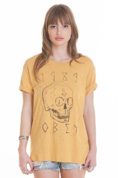 OBEY CLOTHING - OBEY DEADLY SKULL TOM BOY TEE