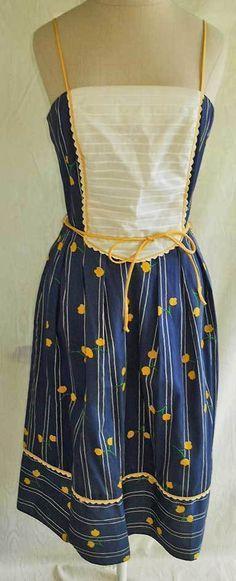 Vintage 60s Bib Pinafore Corset Sun Dress Fit Flare Sexy Deadstock Act 1 10 | eBay