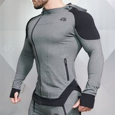 New Winter High Quality Men Zipper Hoodies Long Sleeve Bodybuilding Thin Hoodies Sweatshirts Gyms Muscle Fit Clothes Sport Fitness, Fitness Man, Fitness Fashion, Workout Fitness, Body Fitness, Mens Casual Hats, Thin Hoodies, Bodybuilding Clothing, Body Building Men