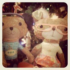 Daisy and Teddy sitting by the Christmas tree Rag Dolls, Cuddling, Little Ones, Daisy, Teddy Bear, Christmas Tree, Toys, Cute, Animals