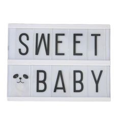 Petite Lightbox Lettres à Personnaliser (format A5) A Little Lovely Company chez Rose & Milk