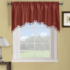 The Soho Straight Valance simplifies the casual and contemporary styling of Home Decor. The highlight of this top window treatment is the elegant tassel fringe Window Swags, Valance Window Treatments, Window Curtains, Window Panels, Living Room Remodel, Living Room Decor, Dining Room, Soho, Tier Curtains