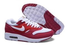 UK Market - Nike Air Max 1 Mens Red White Trainers