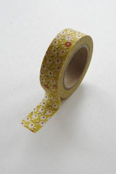 Washi Tape 15mm Red and White Floral Pattern on by InTheClear, $3.30
