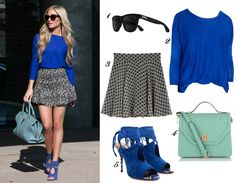 how to wear cobalt blue spring trend fashion outfit blog 2014