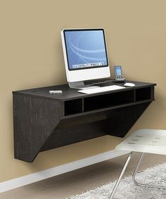 Take a look at this Ebony Designer Floating Wall Desk by Prepac on #zulily today! $180 !!