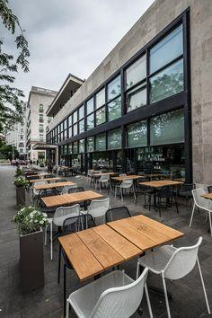 RESTAURANTS - Design Terminal Budapest photos:Zsolt Batár #OutdoorFurniture #ContractFurniture #HorecaFurniture #RestaurantFurniture #MetalChair #OutdoorChair