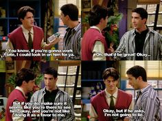 If you're gonna work late. ~ Friends Quotes ~ Season Episode 10 ~ The One With the Monkey Friends Funny Moments, Friends Tv Show, Best Tv Shows, Best Shows Ever, Friends Season 1, Friend Memes, Tv Show Quotes, That One Friend, Fangirl