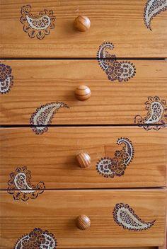 Paisleys Furniture Stencil