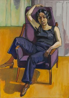Alice Neel - Marxist Girl (Irene Peslikis) | From a unique collection of paintings at http://www.1stdibs.com/art/paintings/