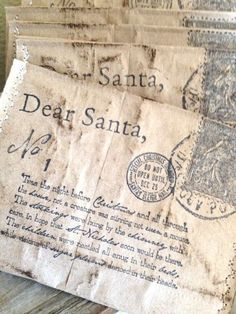 Letters to Santa on Vintage Stationery