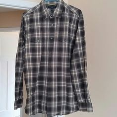 Men Shirt Plade Banana Republic Tops Button Down Shirts