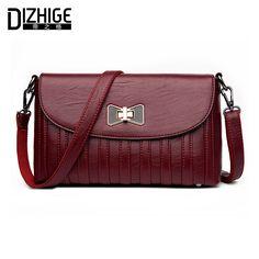 DIZHIGE Brand Fashion Bow Crossbody Bags Women Leather Handbags Lock Shoulder Bags Ladies High Quality Small Women Bag New 2017 #Affiliate