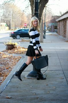Rugby stripes and boots. #katalinagirl #blogger #style #ootd