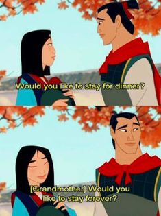 Memes… OMG yes! One of my favorite parts in Mulan.probably one of the best lines the whole movieOMG yes! One of my favorite parts in Mulan.probably one of the best lines the whole movie Walt Disney, Disney Pixar, Disney And Dreamworks, Disney Magic, Disney Jasmine, Disney Tangled, Disney Films, Disney Characters, Humour Disney