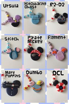 Disney Wine Charms by LotsOfHappiness on Etsy