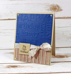 Masculine birthday card using supplies from the Signature Collection by Sara Davies - Just For Men @CraftersCompUS