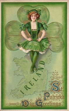 Vintage St. Patrick's Day Greetings postcard