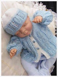 Baby Boy Knitting Patterns, Crochet Doily Patterns, Baby Patterns, Free Knitting, Baby Boy Beanies, Boys Beanie, Knit Crochet, Crochet Hats, Baby Layette