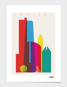"""""""Shapes of Chicago"""", Numbered Edition Fine Art Print by yoni alter - From $39.00 - Curioos"""